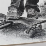Skateboard-charcoal-drawing