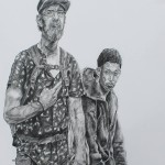 homeless-people-charcoal-drawing-Powell-Street