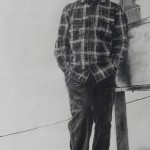 man-on-skateboard-Charcoal-drawing
