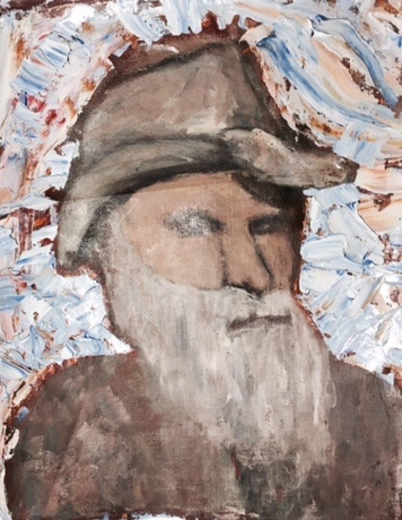 The folk singer painting