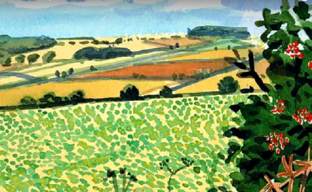 David Hockney Water Paintings