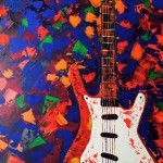 Art by Beth Boudreaux | Abstract Volkswagen and Abstract Guitar Paintings