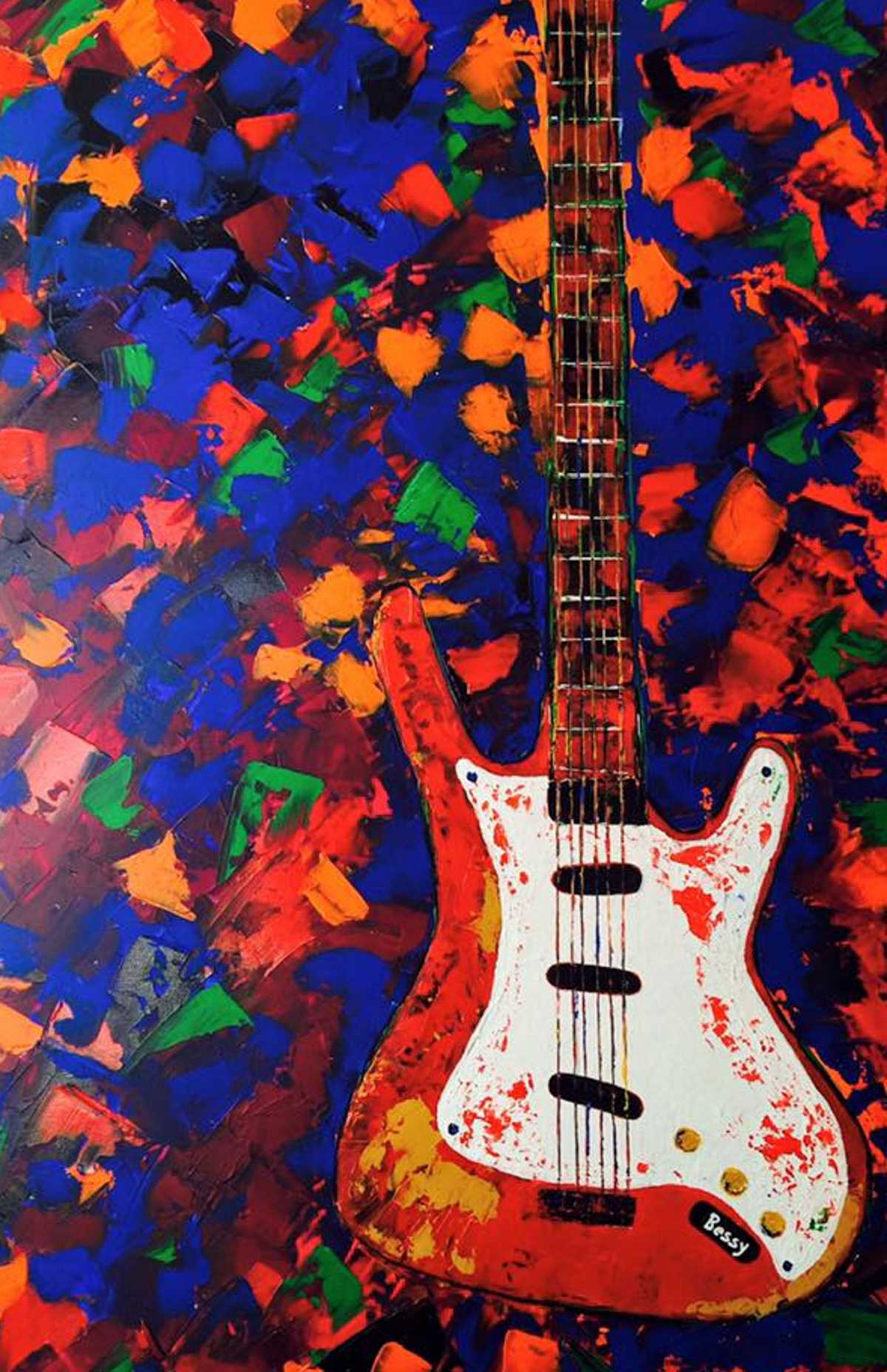 Abstract Painted Guitar