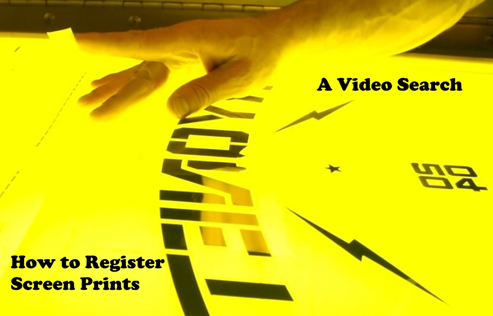 How To Register a Screen Print