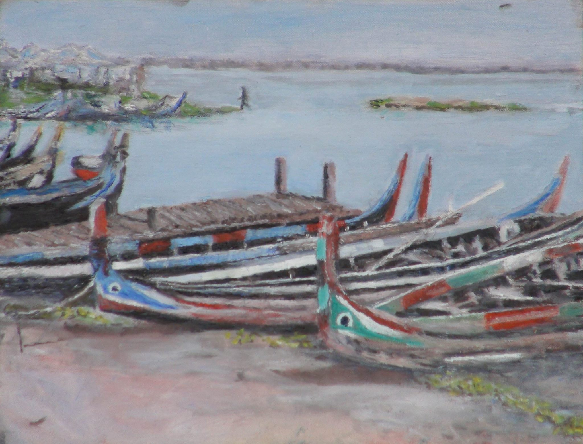 Boats with Eyes Painting