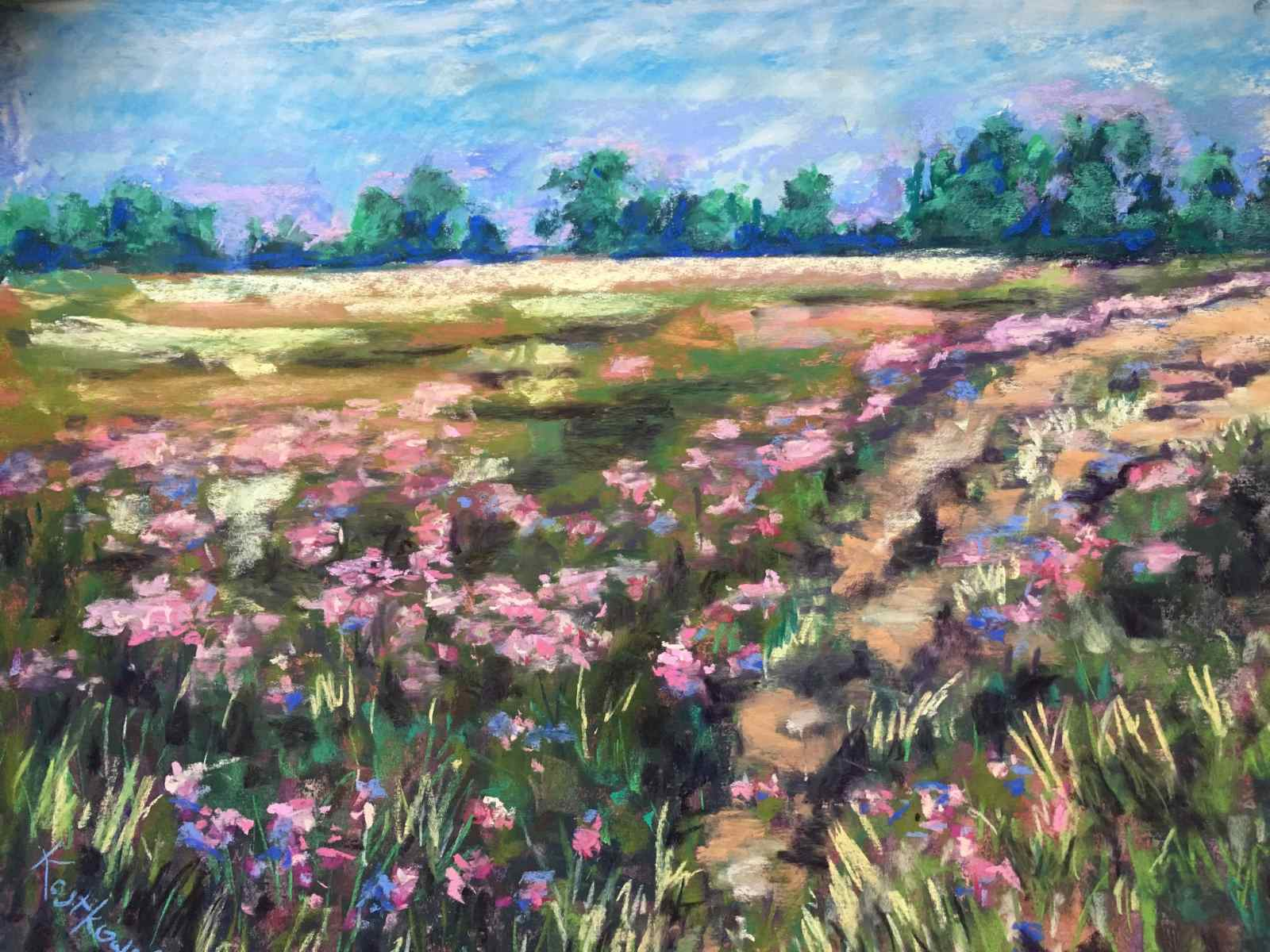 Phlox at Flat Rock Painting